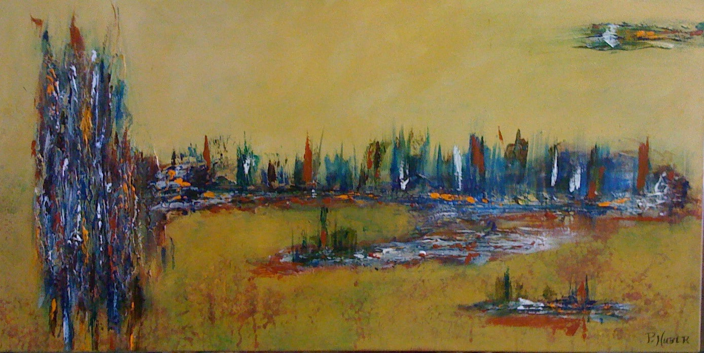 THE MARSHES   Acrylic on Canvas   24 x 36