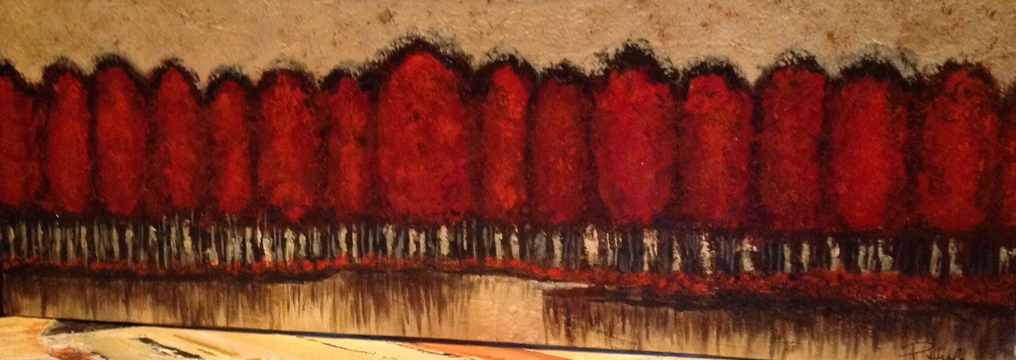 NATURES SELECTION       Acrylic on Canvas               16 x 36
